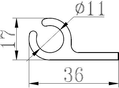 Профиль для шатров и палаток НЧП-2150-1 (6 метров)