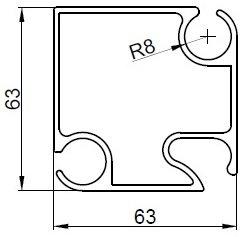 Профиль для шатров и палаток НЧП-5375 (6 метров)