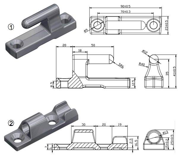 Петля бортовая 90 мм