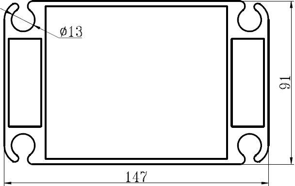 Профиль для шатров и палаток НЧП-1374 (6 метров)