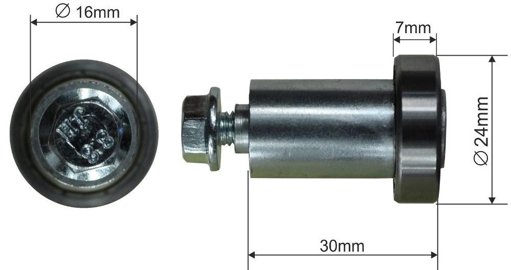 Ролик для сдвижной крыши 24x7mm ETES