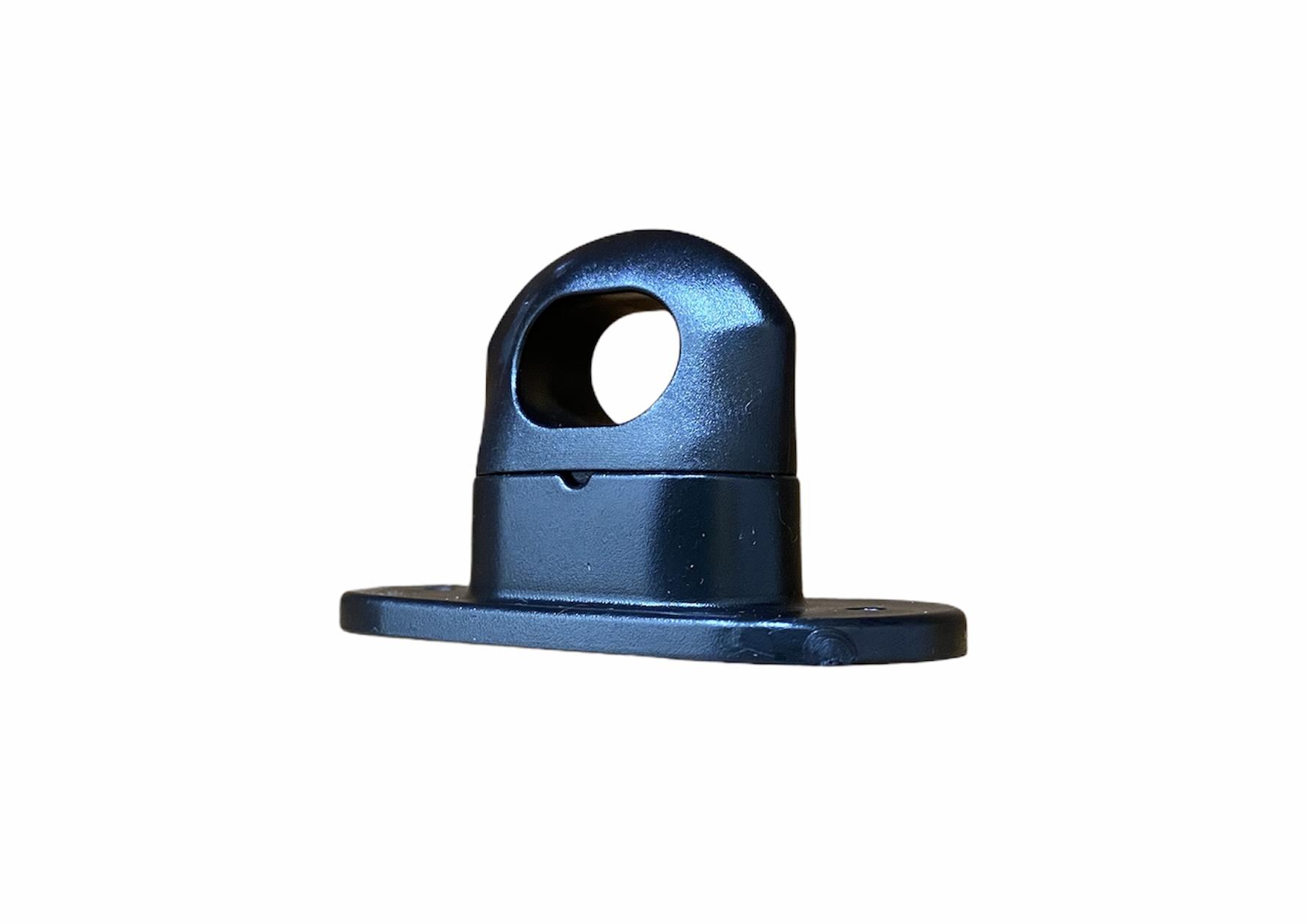 Скоба поворотная черная пластик H-17mm., h-25mm. (100шт.)