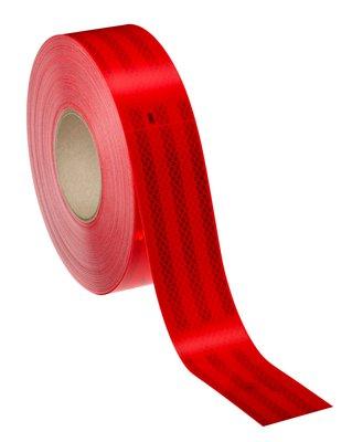 Светоотражающая лента красная 3M (50 метров)