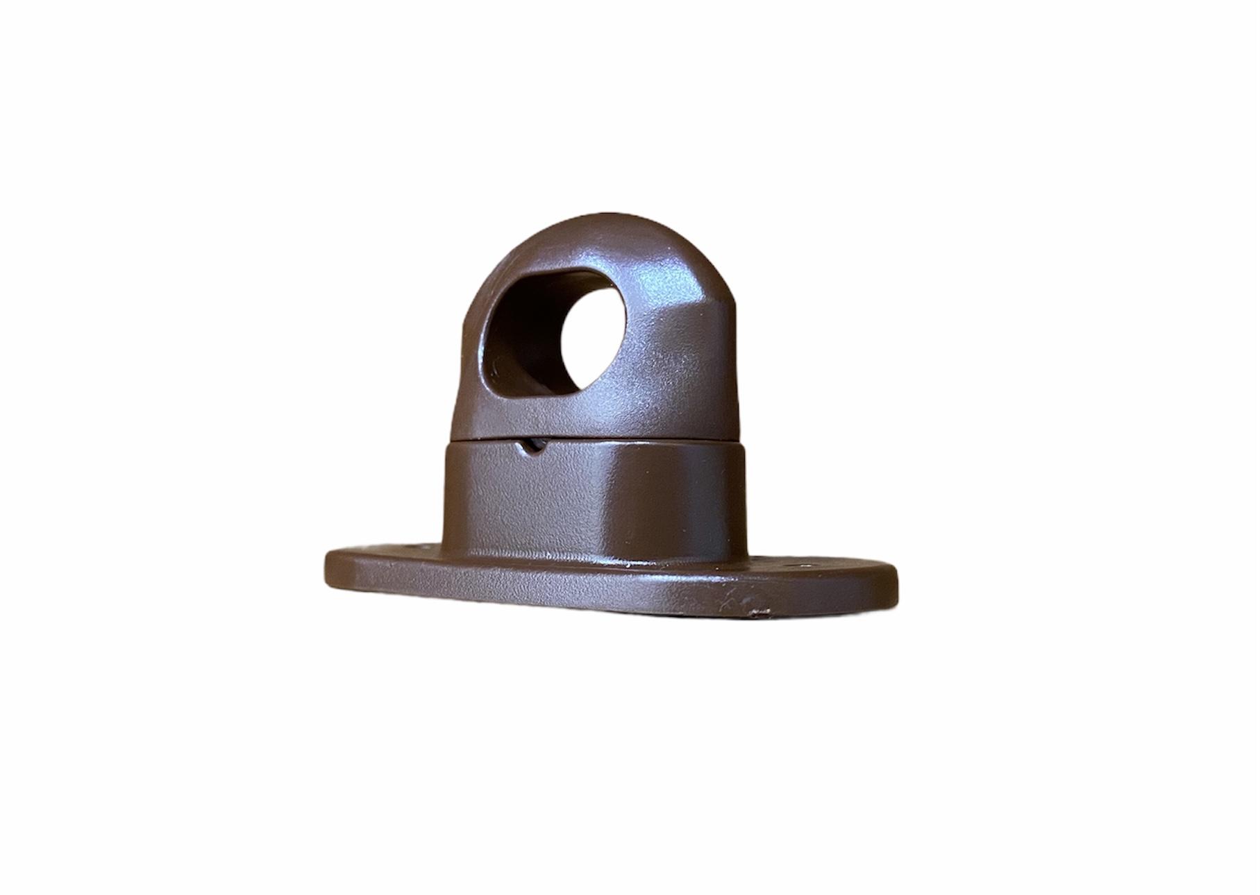 Скоба поворотная коричневая пластик H-17mm., h-25mm. (100шт.)