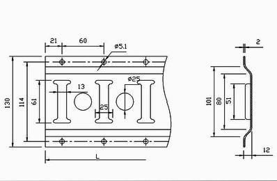 Такелажная рейка крепления груза (3 метра)