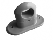 Скоба поворотная серая пластик H-17mm., h-25mm. (100шт.)