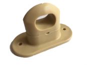 Скоба поворотная бежевая пластик H-17mm., h-25mm. (100шт.)