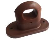 Скоба поворотная коричневая пластик H-17mm., h-25mm.