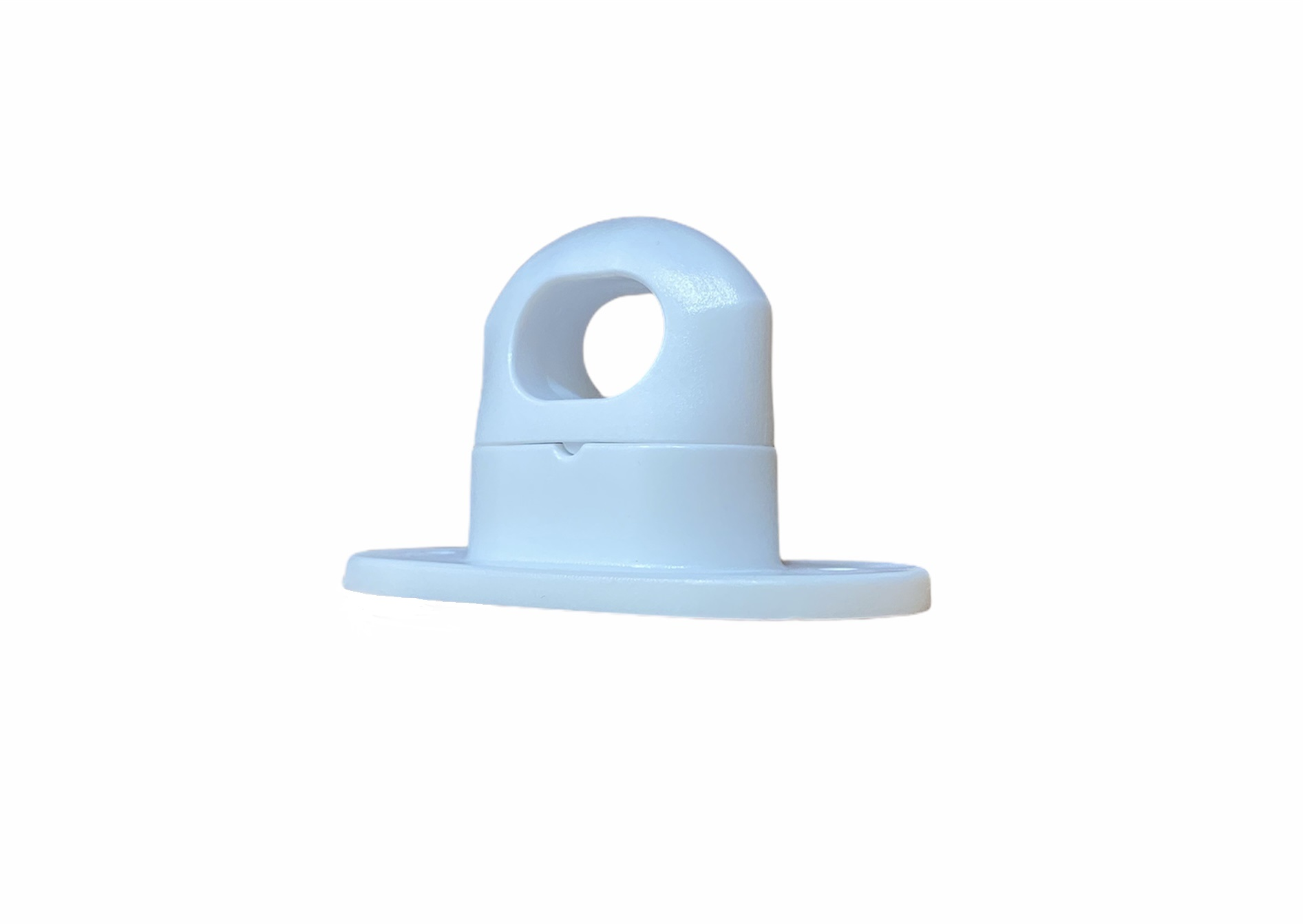 Скоба поворотная белая пластик H-17mm., h-25mm. (100шт.)