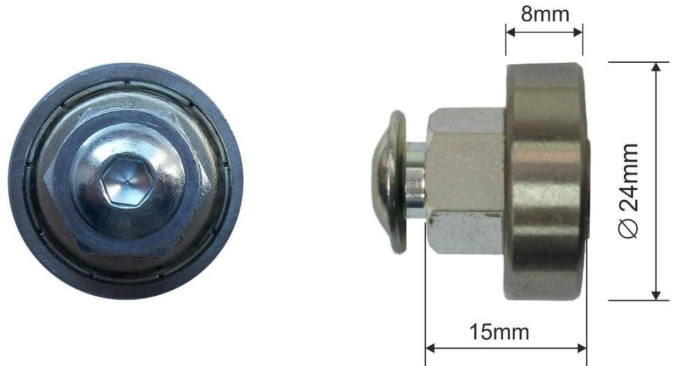 Ролик для сдвижной крыши 24x8mm Kogel