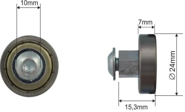 Ролик для сдвижной крыши 24x7mm Edscha 1016741