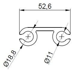 Профиль для шатров и палаток НЧП-4951 (6 метров)